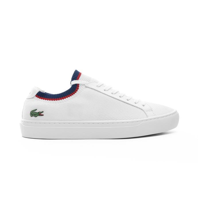 Lacoste La Piquee Erkek Beyaz - Lacivert - Kırmızı Spor Ayakkabı