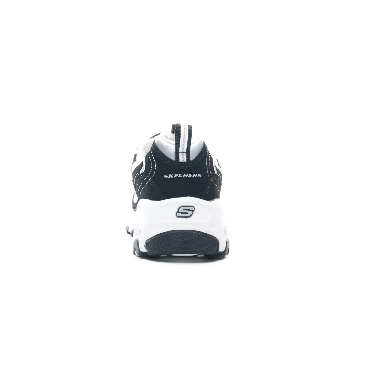 Skechers D'Lites-Biggest Fan Kadın Siyah-Beyaz Spor Ayakkabı