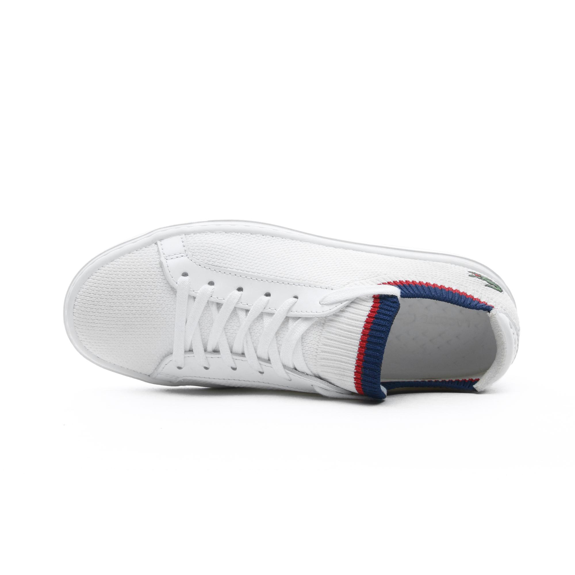 Lacoste La Piquee Kadın Beyaz - Lacivert - Kırmızı Spor Ayakkabı