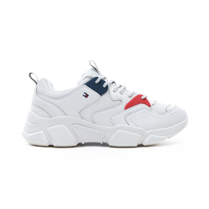 Tommy Hilfiger Chunky Mixed Kadın Beyaz Spor Ayakkabı