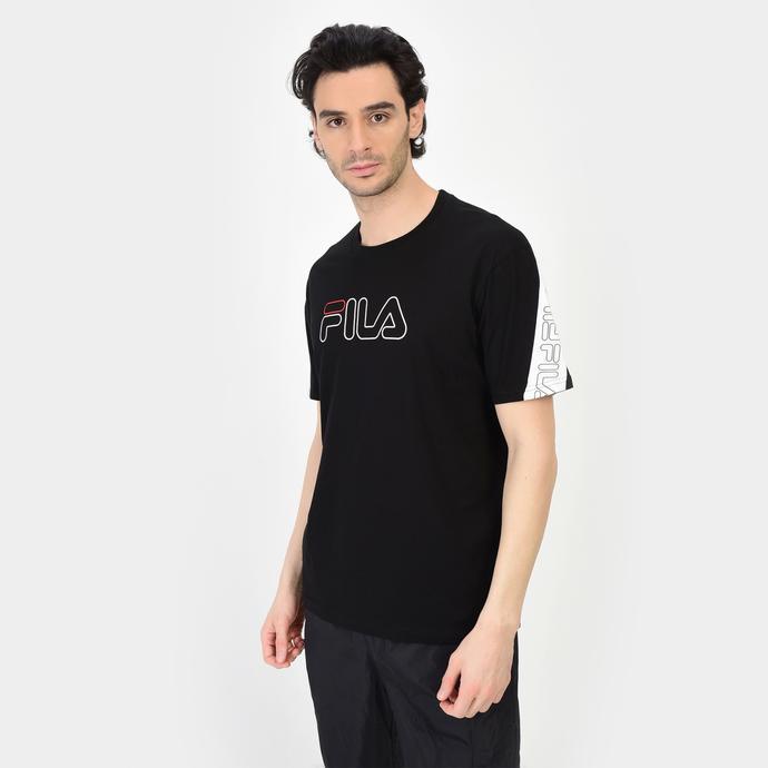 Fila Loe Erkek Siyah T-Shirt