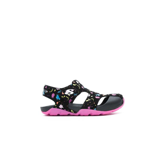 Skechers Side Wave Çocuk Siyah Sandalet