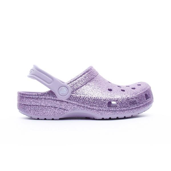 Crocs Classic Glitter Clog K Çocuk Mor Terlik