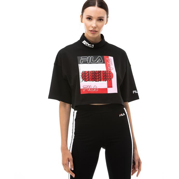 Fila Cari Kadın Siyah T-Shirt