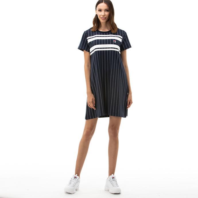 Fila Wattan Kadın Lacivert T-Shirt Elbise