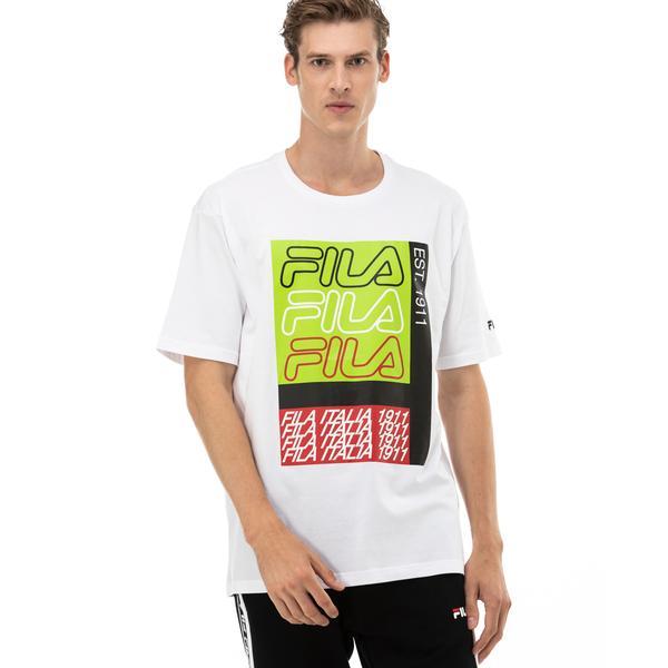 Fila Caradoc Erkek Beyaz T-Shirt