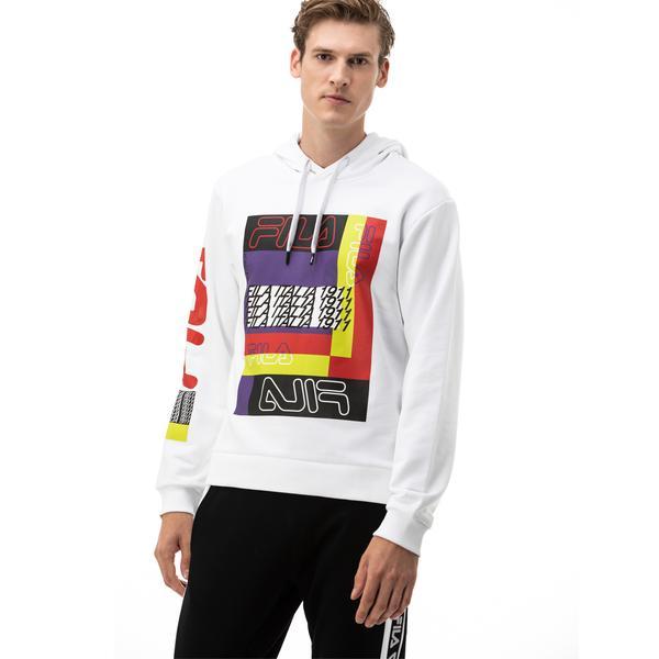Fila Canute Erkek Beyaz Sweatshirt
