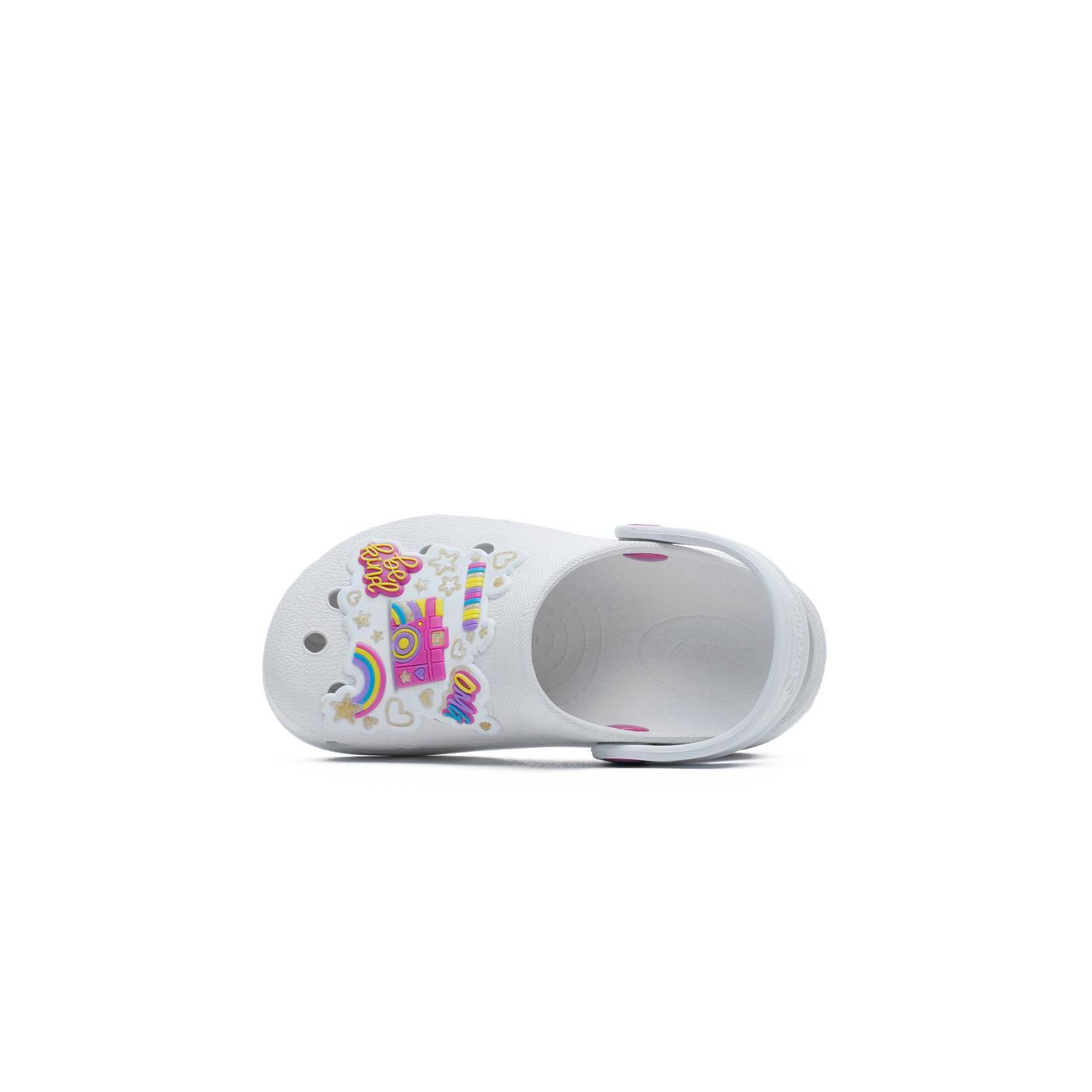 Skechers Heart Charmer Photobomb Çocuk Beyaz Terlik