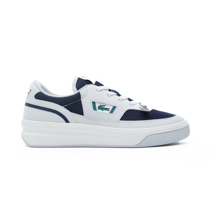Lacoste G80 OG 120 1 SMA Erkek Beyaz - Koyu Mavi Spor Ayakkabı