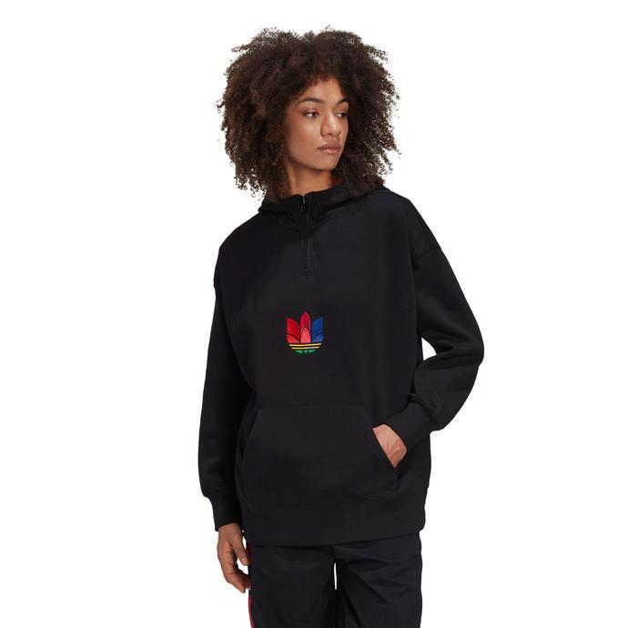 Adicolor Halfzip Kapüşonlu Kadın Siyah Sweatshirt