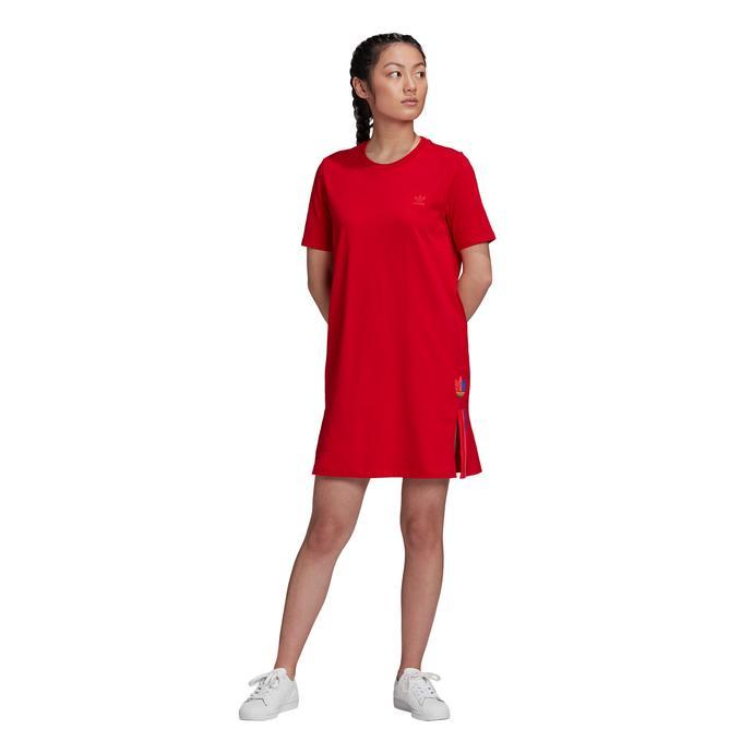 adidas Adicolor Kadın Kırmızı T-Shirt Elbise