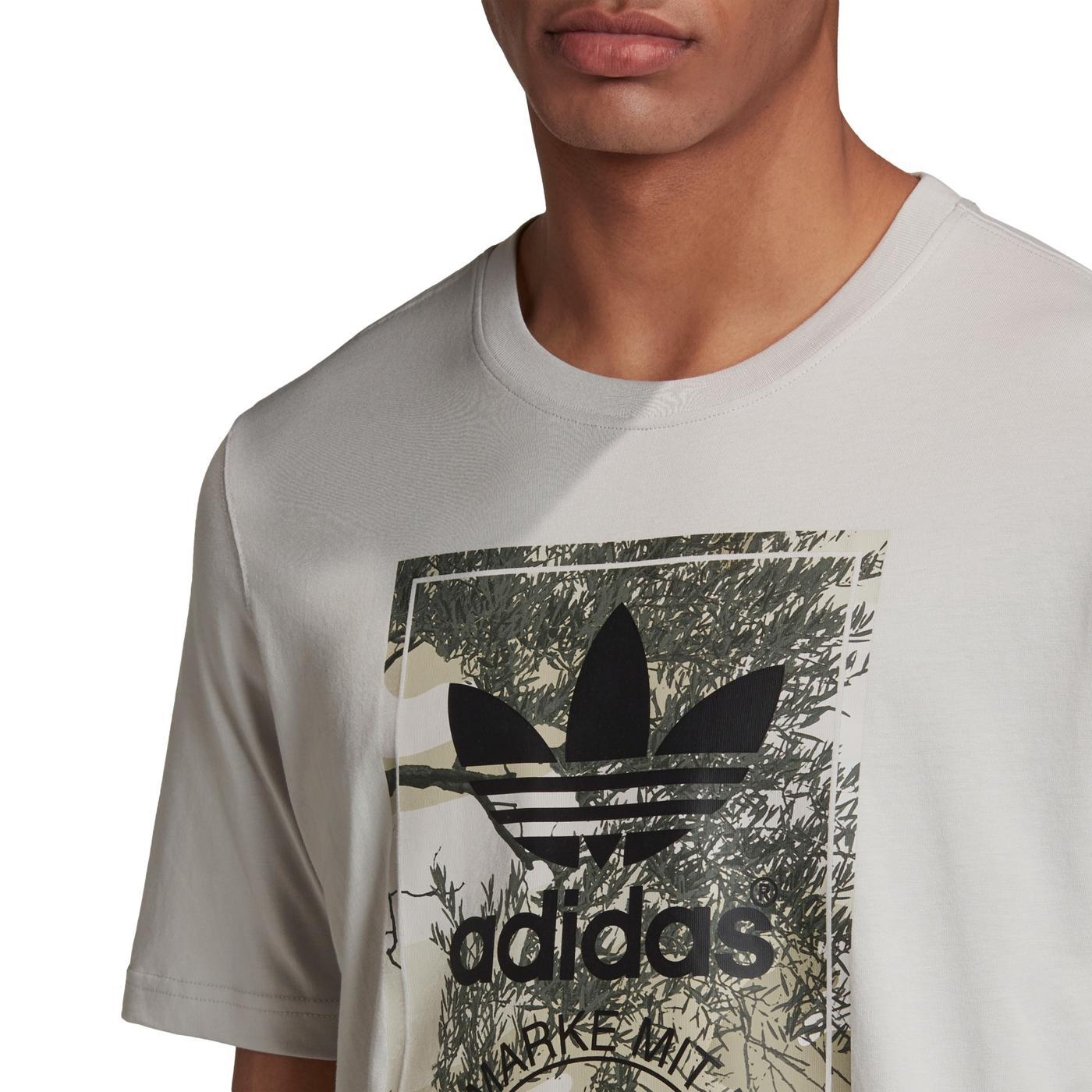 adidas Camo Tongue Erkek Gri T-Shirt