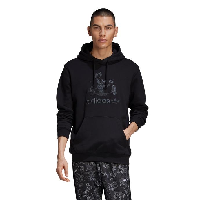 Goofy Kapüşonlu Erkek Siyah Sweatshirt