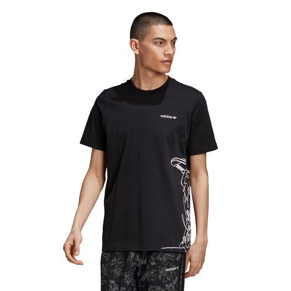 adidas Goofy Erkek Siyah T-Shirt