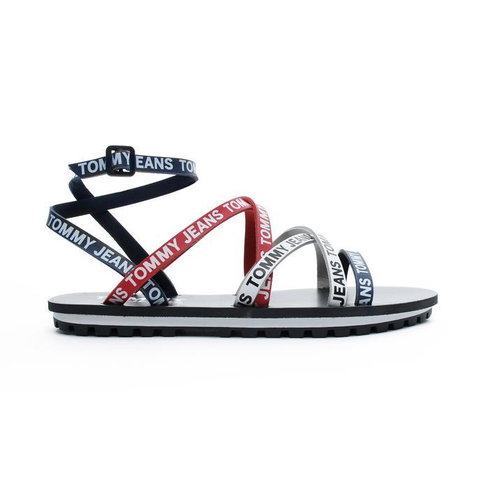 Tommy Hilfiger Cleated Flat Kadın Lacivert Sandalet