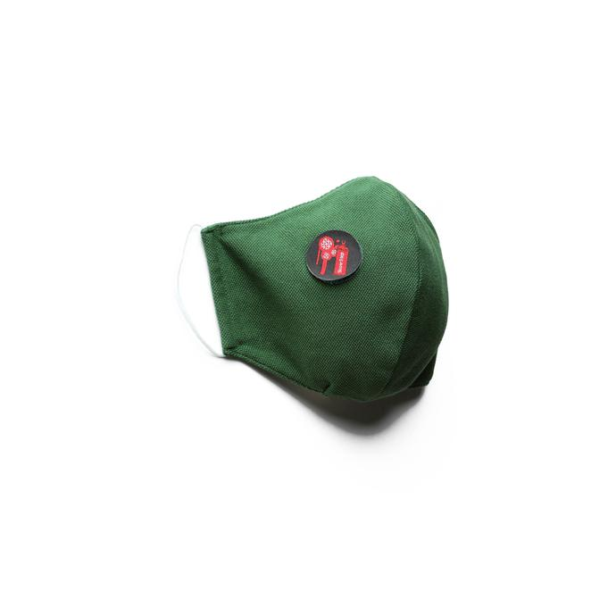 Pamuklu Yıkanabilir Yeşil Maske