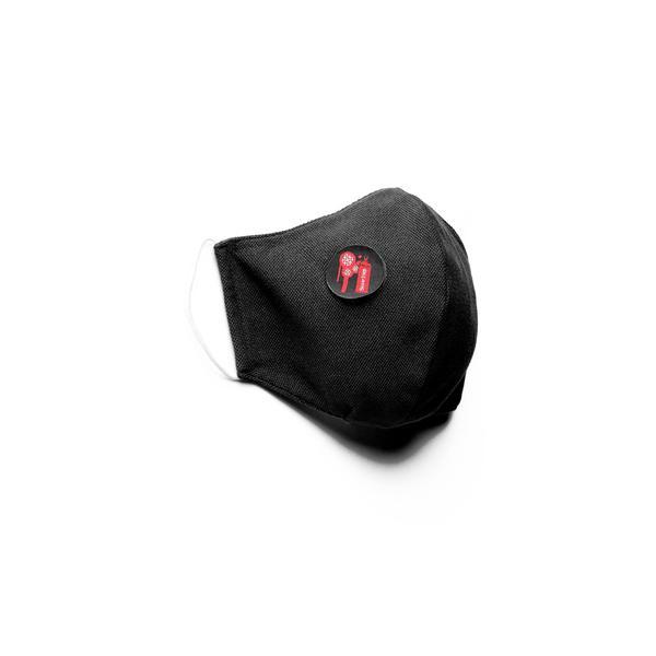 Superstep Pamuklu Yıkanabilir Siyah Maske