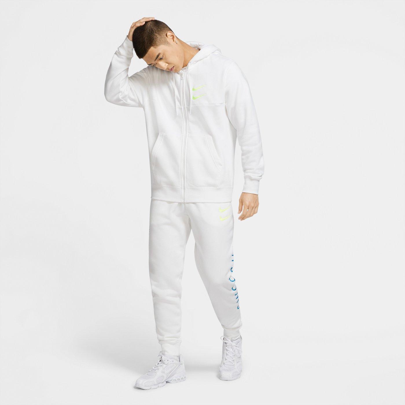 Sportswear Swoosh Erkek Beyaz Sweatshirt