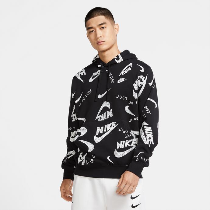 Sportswear Club Erkek Siyah Sweatshirt