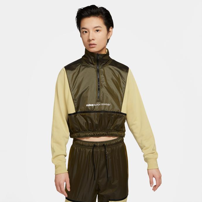 Sportswear QZ Archive Rmx Kadın Yeşil Sweatshirt