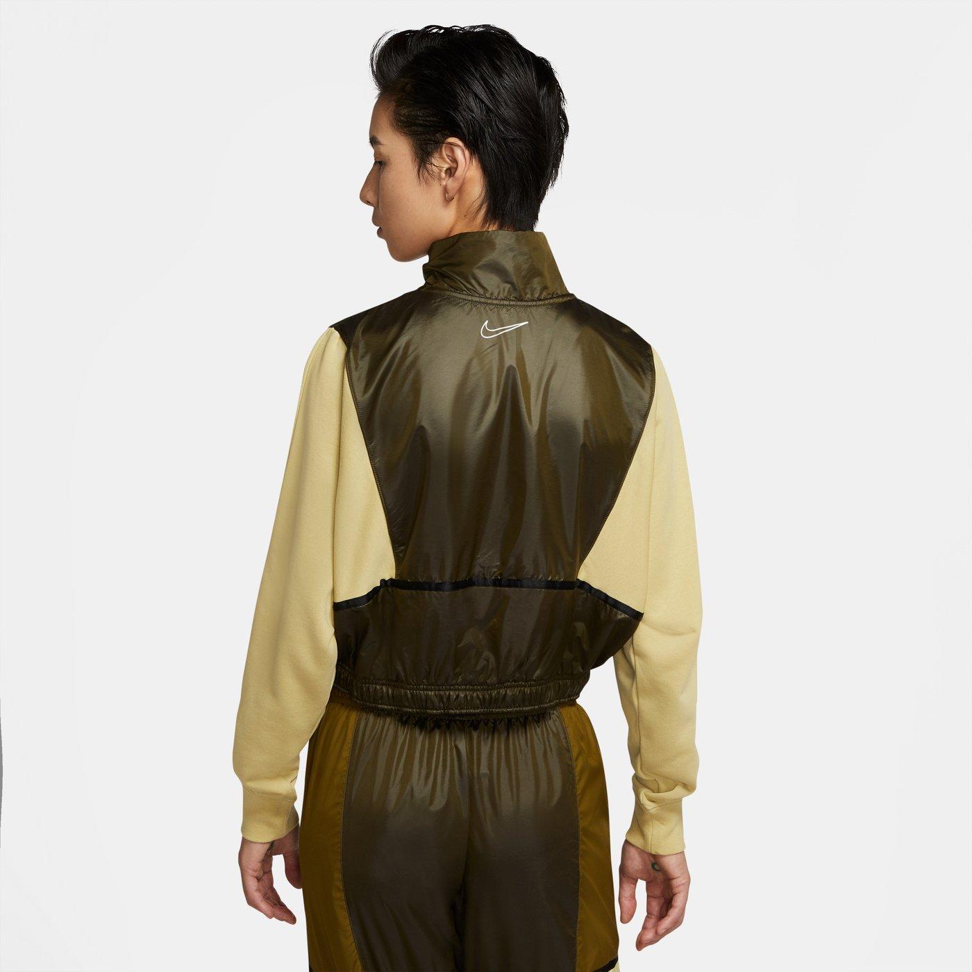 Nike Sportswear QZ Archive Rmx Kadın Yeşil Sweatshirt