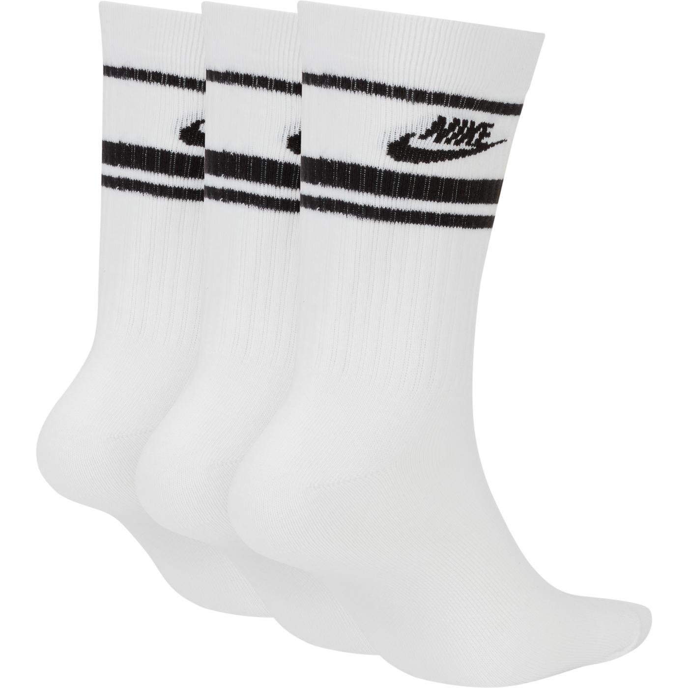 Nike Sportswear Essential Stripe Unisex Beyaz Çorap