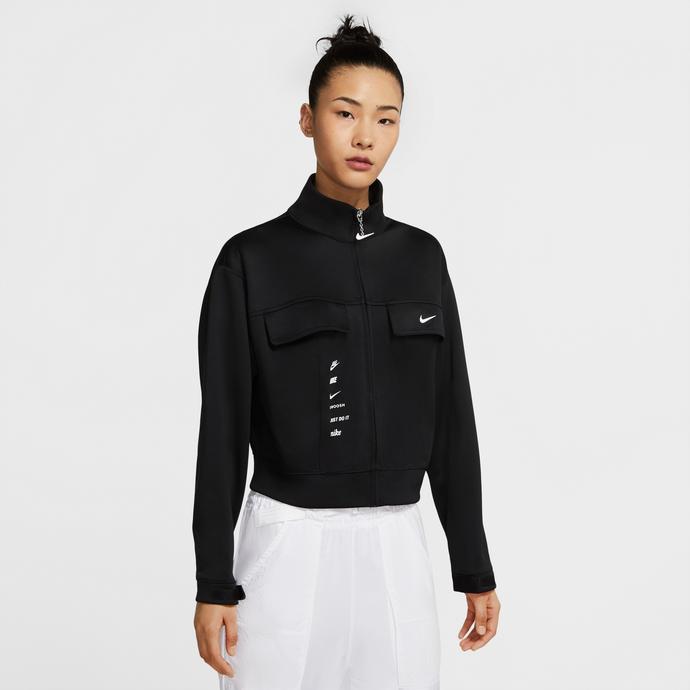Sportswear Swoosh Kadın Siyah Ceket
