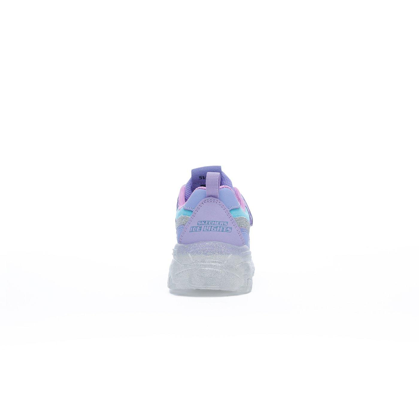Skechers Ice D'Lites-Snow Spark Çocuk Mor Spor Ayakkabı