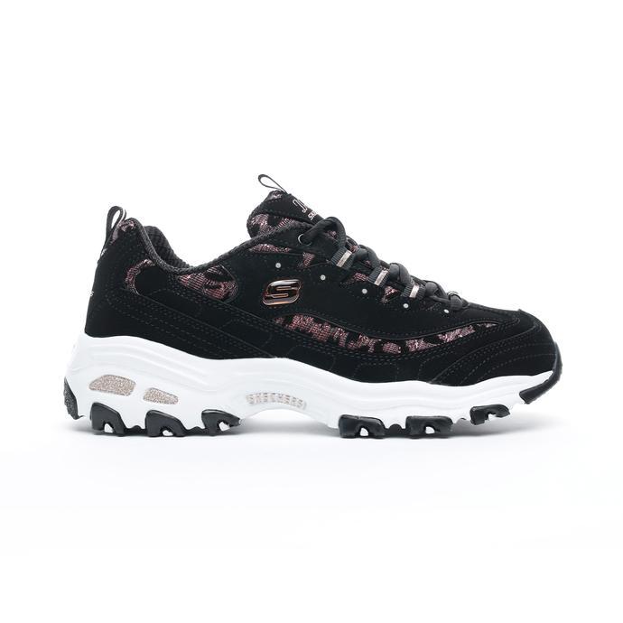 Skechers D'Lites - Fancy Leopard Kadın Siyah Spor Ayakkabı