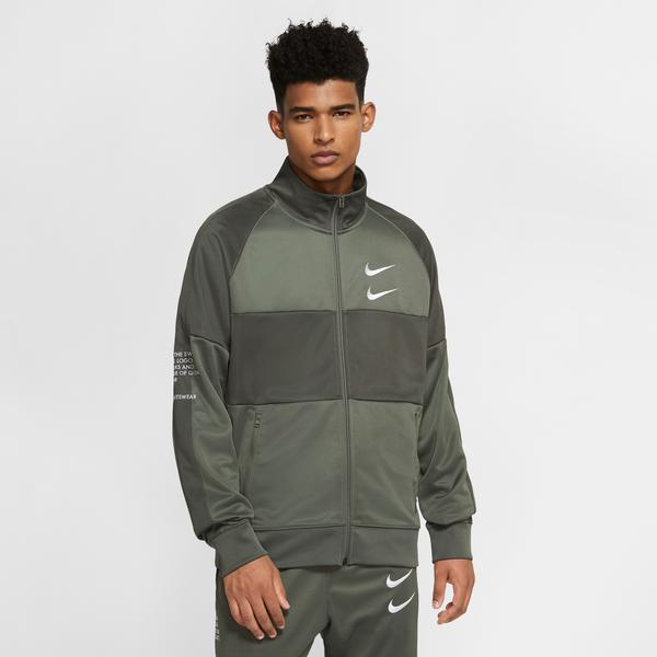 Nike Sportswear Swoosh Erkek Yeşil Eşofman Üstü