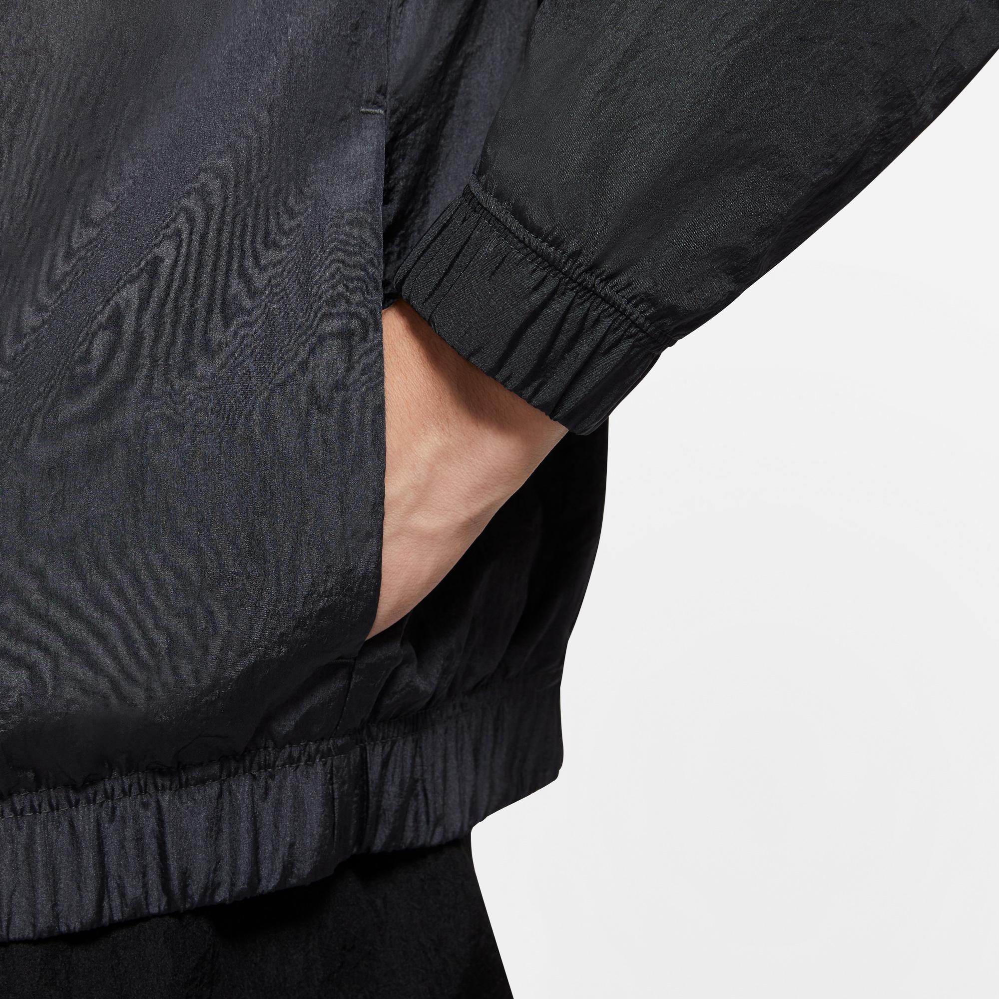 Nike Sportswear Swoosh Dokuma Siyah Erkek Ceket