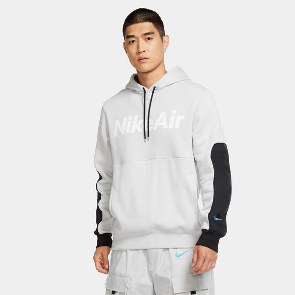 Nike Air Erkek Gri Kapüşonlu Sweatshirt