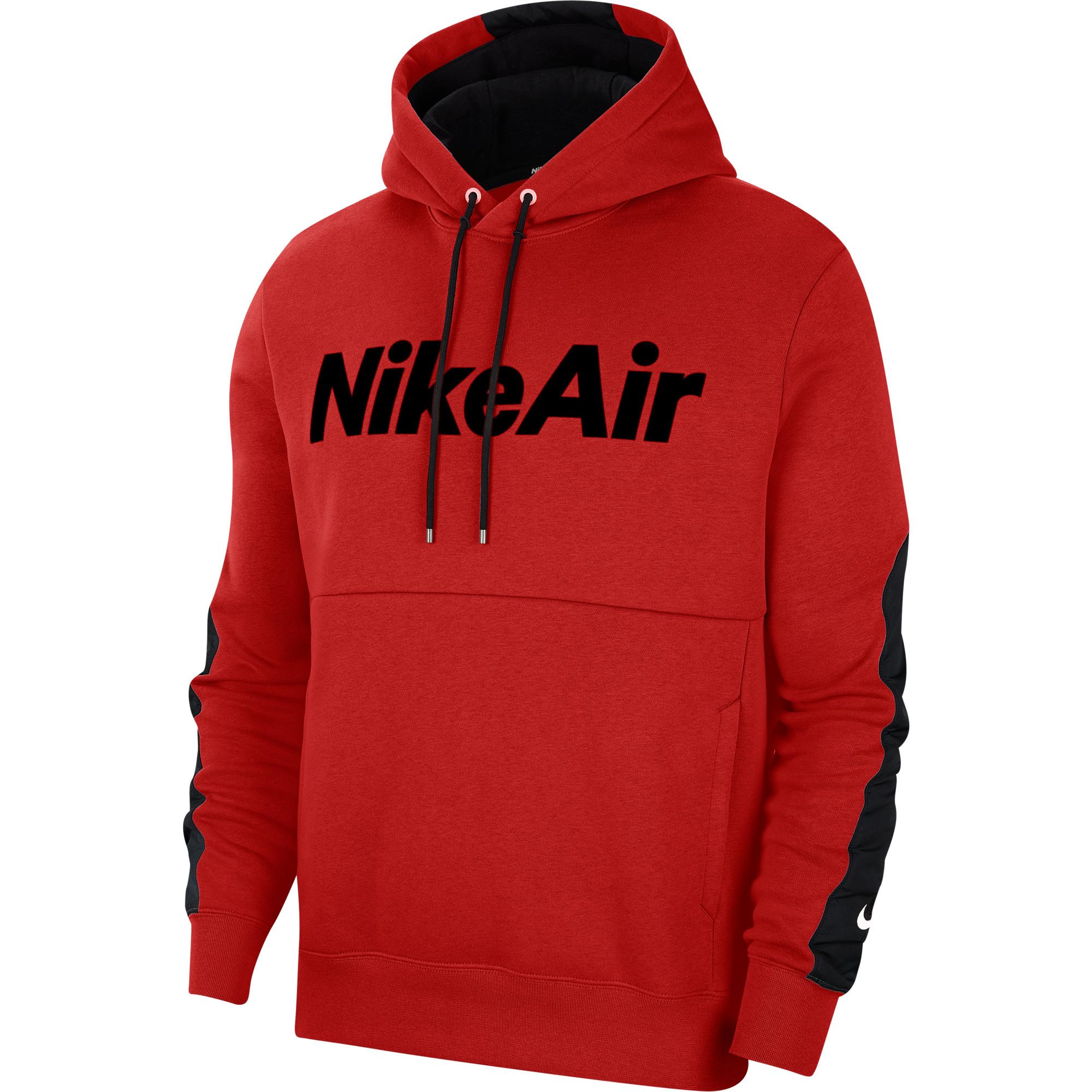 Nike Air Erkek Kırmızı Kapüşonlu Sweatshirt