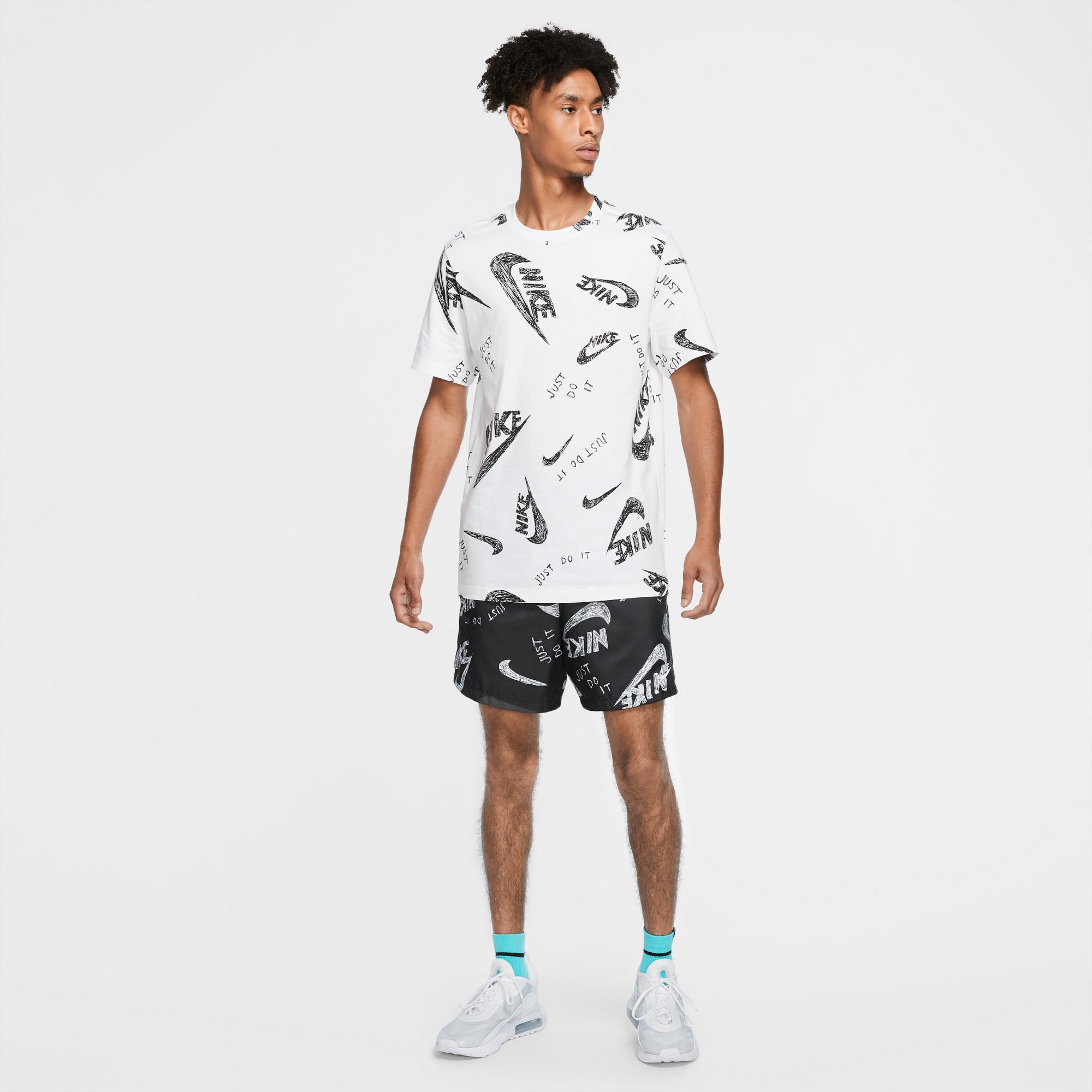 Nike Sportswear Erkek Beyaz T-Shirt