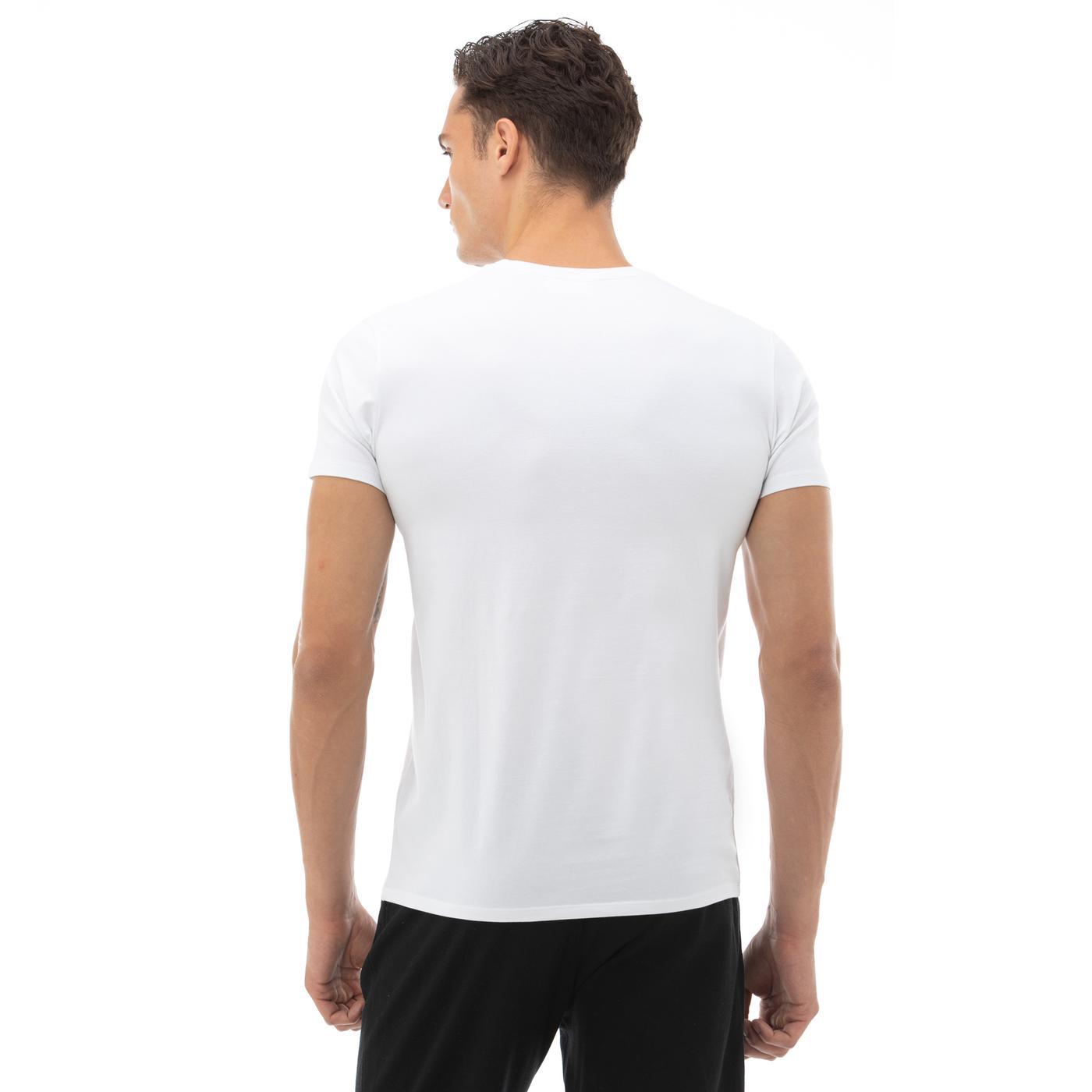 Lacoste Erkek Regular Fit V Yaka Beyaz T-Shirt