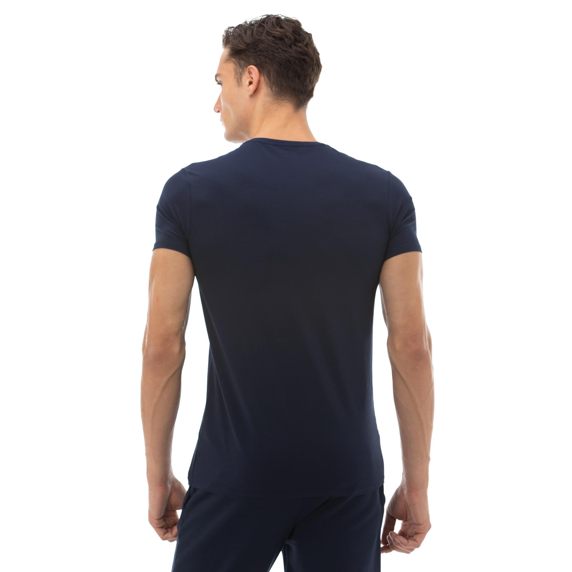 Lacoste Erkek Regular Fit V Yaka Lacivert T-Shirt