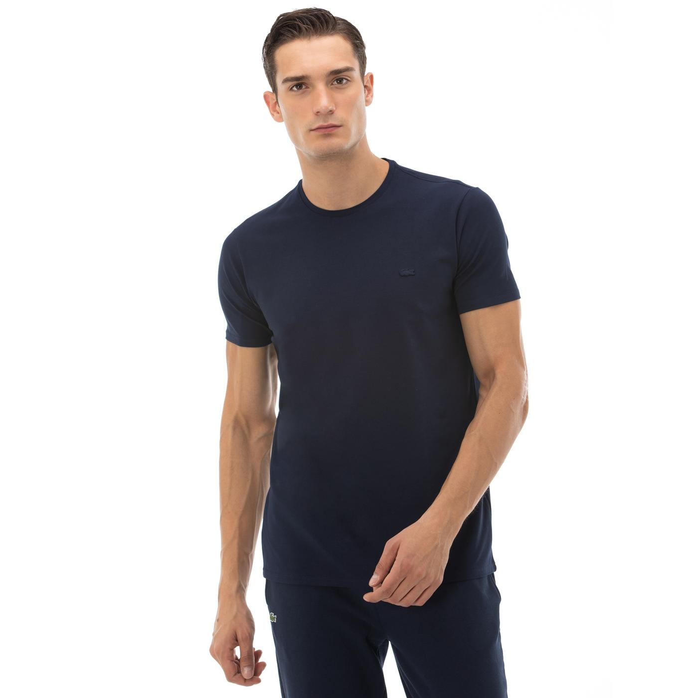 Lacoste Erkek Regular Fit Bisiklet Yaka Lacivert T-Shirt