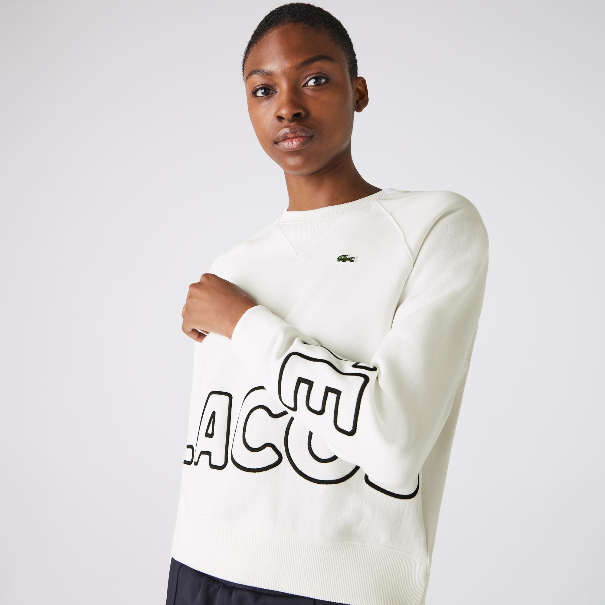Lacoste L!VE Kadın Beyaz Sweatshirt
