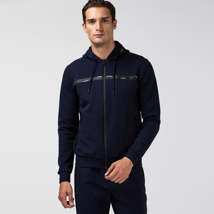 Lacoste Erkek Fermuarlı Lacivert Sweatshirt