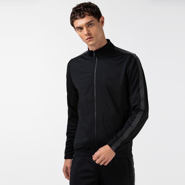 Lacoste Erkek Fermuarlı Siyah Sweatshirt