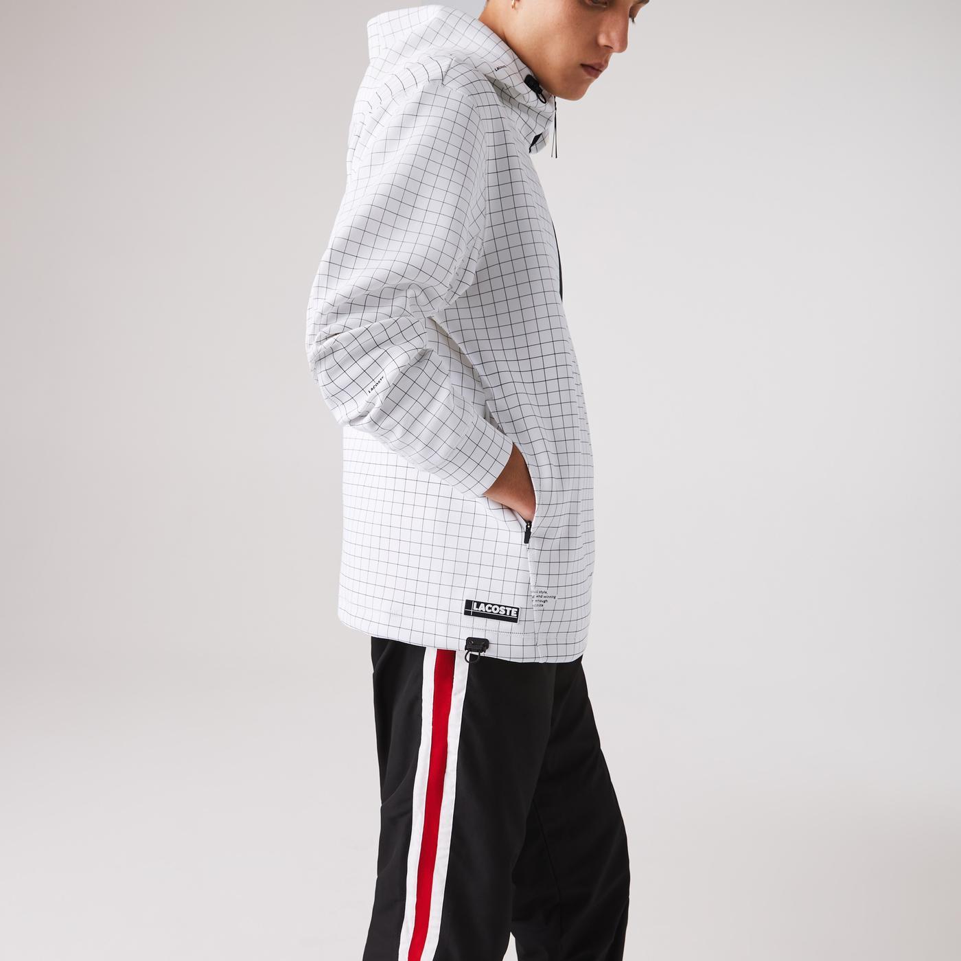 Lacoste Erkek Fermuarlı Beyaz Sweatshirt