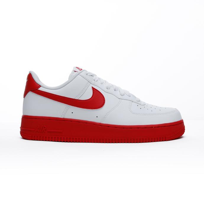 Air Force 1 Low Erkek Beyaz-Kırmızı Spor Ayakkabı