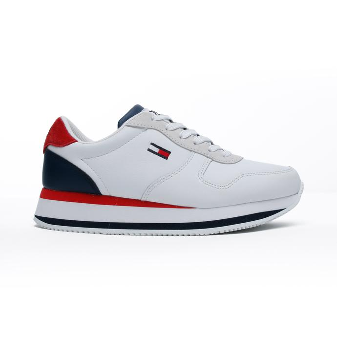 Tommy Hilfiger Flatform Essential Kadın Beyaz Spor Ayakkabı