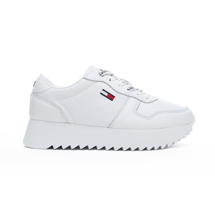 Tommy Hilfiger High Cleated Kadın Beyaz Spor Ayakkabı