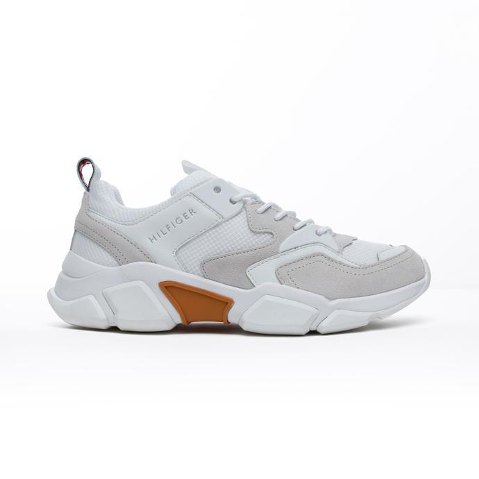 Tommy Hilfiger Chunky Material Mix Erkek Beyaz Spor Ayakkabı