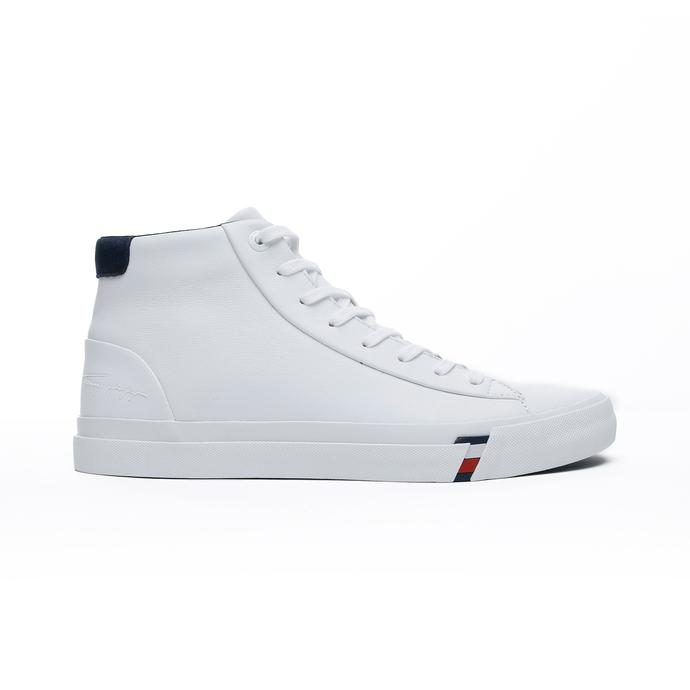 Tommy Hilfiger Corporate High Erkek Beyaz Spor Ayakkabı