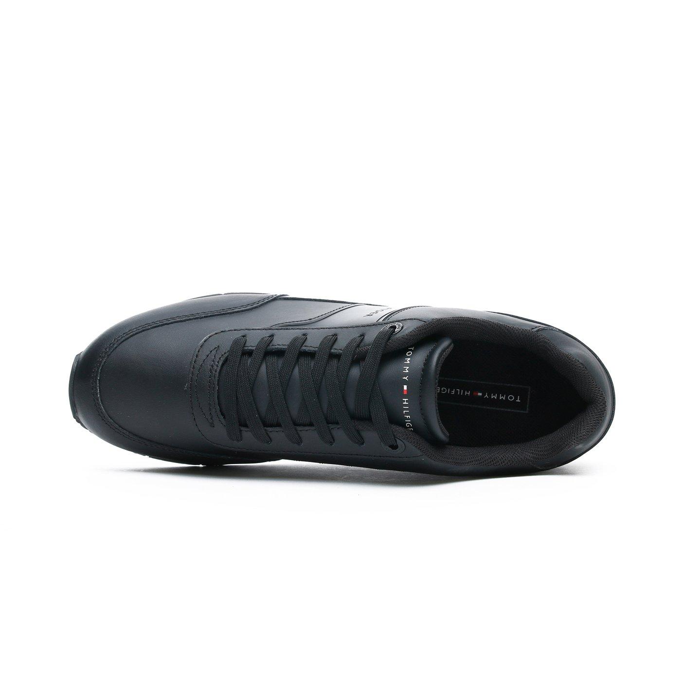 Tommy Hilfiger Corporate Erkek Siyah Spor Ayakkabı