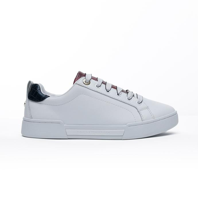 Tommy Hilfiger Branded Outsole Croc Kadın Beyaz Spor Ayakkabı