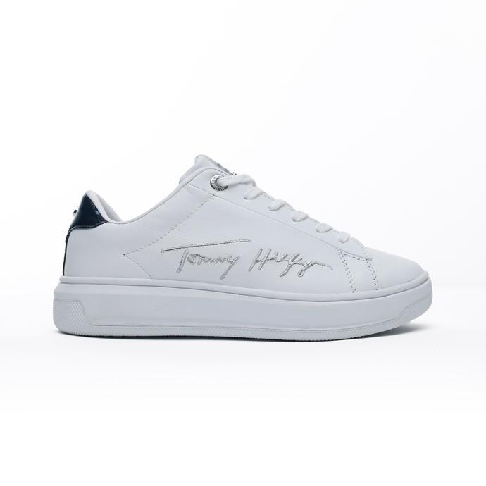 Tommy Hilfiger Signature Tommy Cupsole Kadın Beyaz Spor Ayakkabı