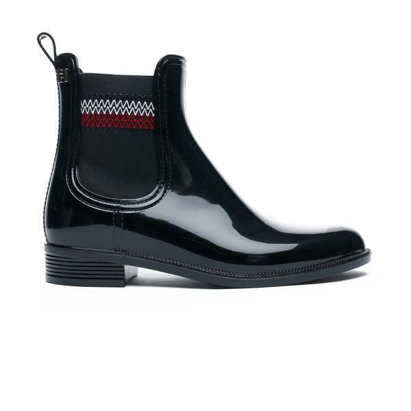 Tommy Hilfiger Signature Elastic Kadın Siyah Yağmur Botu